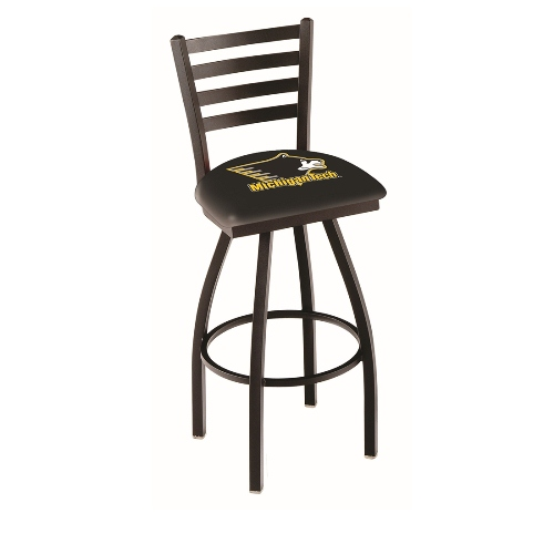 NCAA Swivel Stool with Ladder-Style Back by Holland Bar Stool, 25'' - Michigan Tech