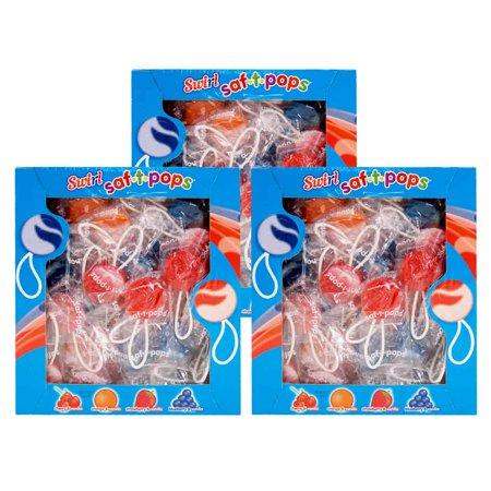 Swirl Saf-T-Pops 3-100 count boxes - Swirl Lollipop