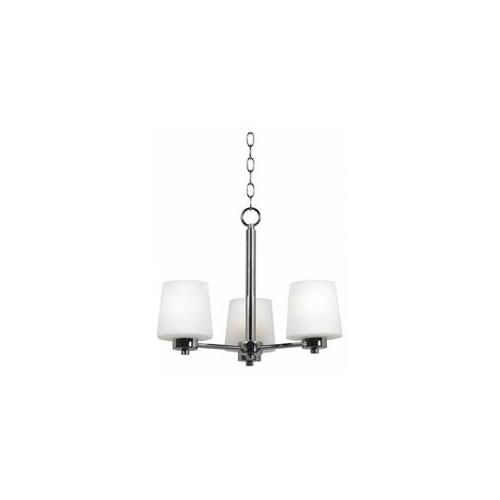 Kenroy Home 91973CH 3 Light Up Lighting Chandelier with Ceramic Socket from the Marilyn Collection, Chrome