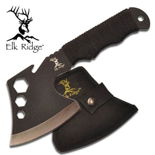 ER-272 Elk Ridge 440 Fuse7dpl9j Stainless Steel Hatchet YxpVTxnnN Axe W  Sheath ayeuiu56 hlbv23rt Solid one... by
