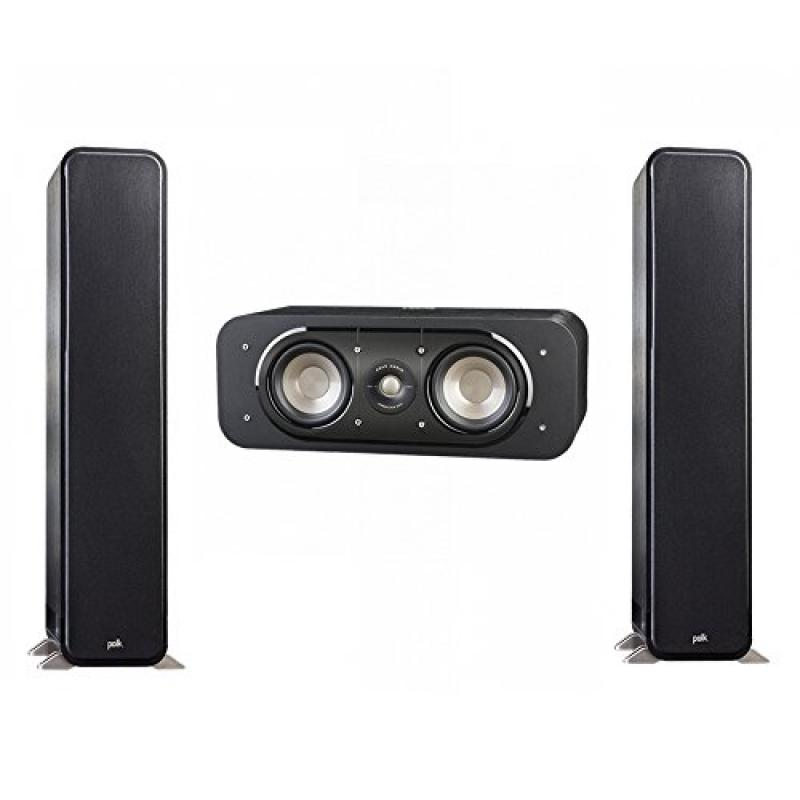 Polk Audio Signature 3.0 System with 2 S55 Tower Speaker, 1 Polk S30 Center Speaker by Polk Audio