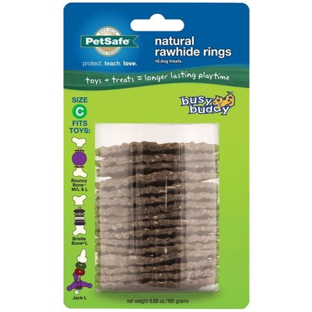 Premier Busy Buddy Gnawhide Refill Ring Dog Treats for Bristle and Bouncy Bones, Rawhide, Large, Designed to fit Bouncy Bones By (Best Bongs In The World For Sale)