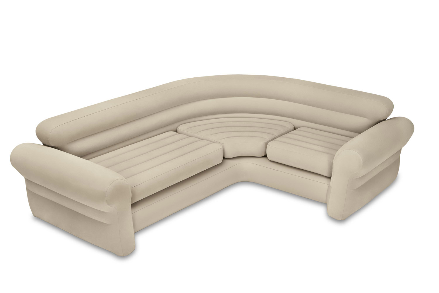 Intex Inflatable Corner Living Room Neutral Sectional Sofa | 68575EP by Intex