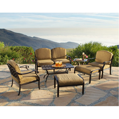 Art Frame Direct Sierre 7 Piece Deep Seating Group with Cushions