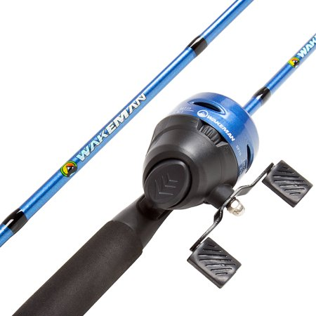 Fishing Pole – 64-Inch Fiberglass and Stainless Steel Rod and Pre-Spooled Reel Combo for Lake, Pond and Stream Casting by Wakeman Outdoors