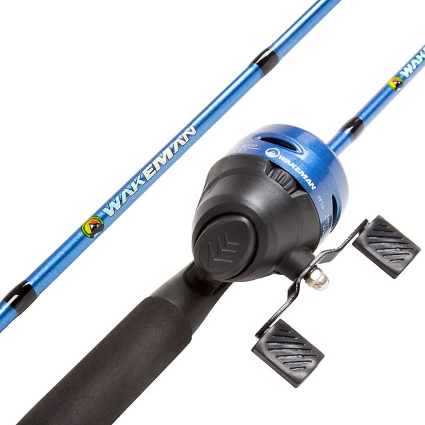 Wakeman 64-Inch Fiberglass and Stainless Steel Rod and Pre-Spooled Reel Combo