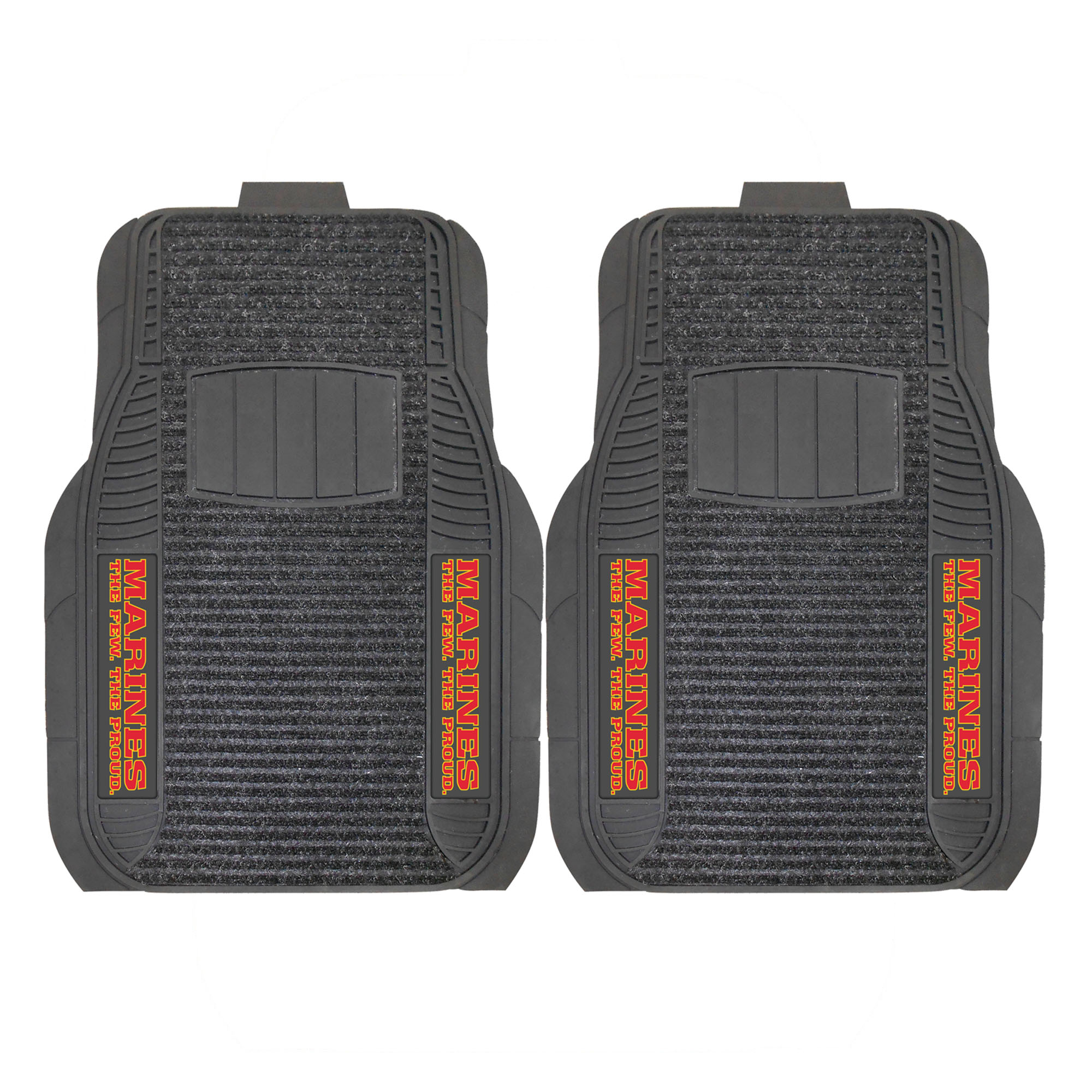 U.S. Marines 2-PC Deluxe Front Car Mat Set, Universal Size