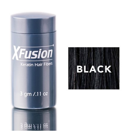 Xfusion Hair Fiber - XFusion Black Keratin Hair Fibers (Size : 0.11 oz)
