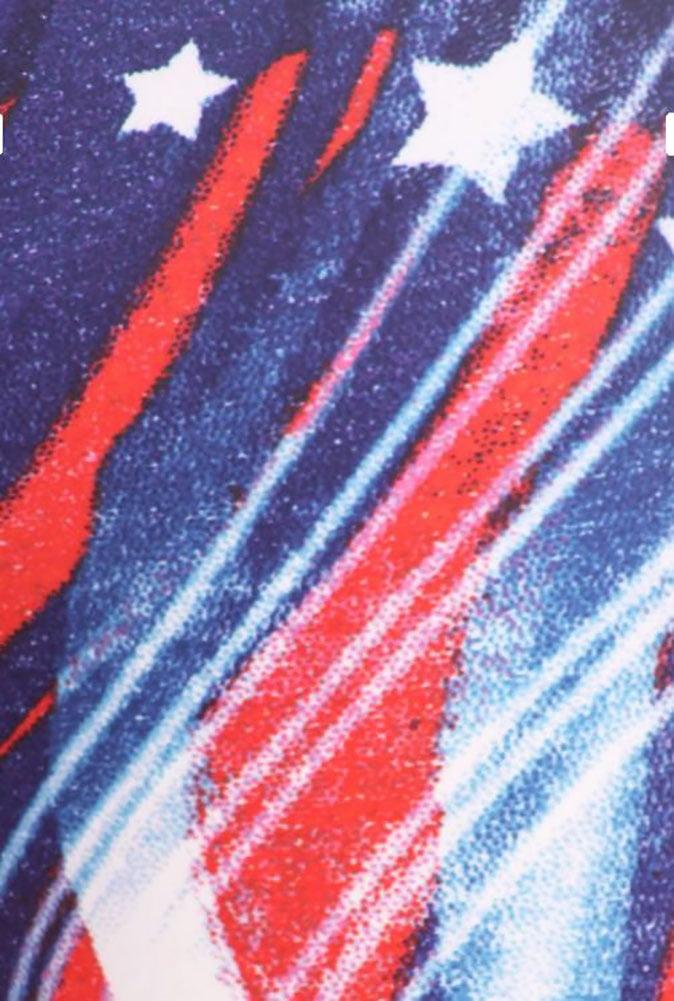 0defdfd8f4b373 Fourever Funky - Patriotic Stars Abstract Swirls American Flag Inspired  Leggings - Walmart.com