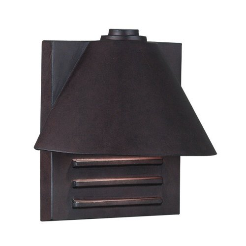 Kenroy Home 10160COP Fairbanks Outdoor Small Wall Lantern - 9H in. Copper Finish