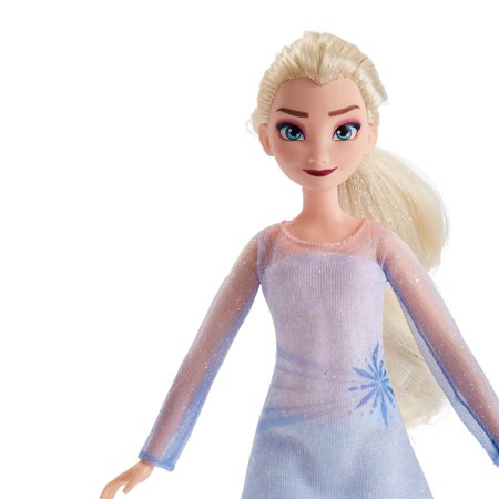 Disney Frozen 2 Elsa Fashion Doll and Nokk Figure Playset, Includes Outfit