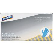 Genuine Joe Standard Industrial Nitrile Gloves - Small Size - Textured, Ambidextrous, Puncture Resistant, Powder-free, Beaded Cuff, Finger Protection - Nitrile - 100 / Box - Blue (gjo-15352)