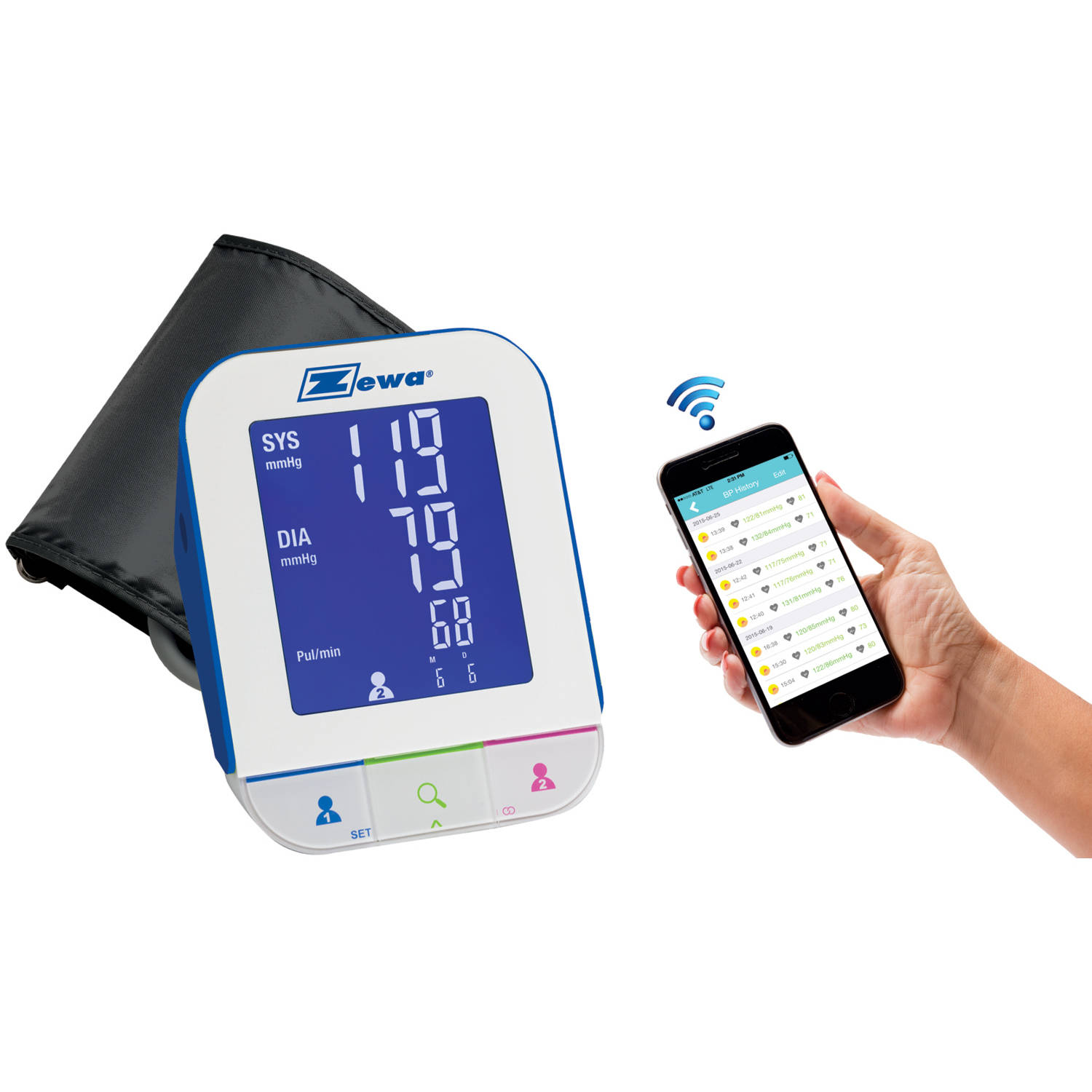 Zewa Bluetooth Automatic Blood Pressure Monitor