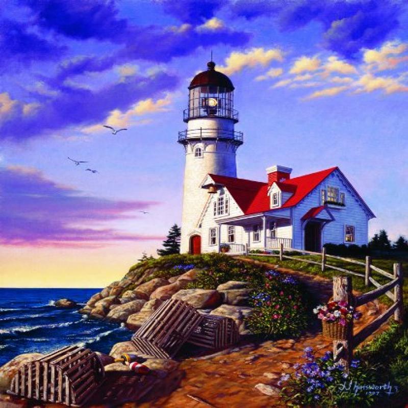 Outset Media Cobble Hill Lighthouse Hill 1000 Piece Jigsa...