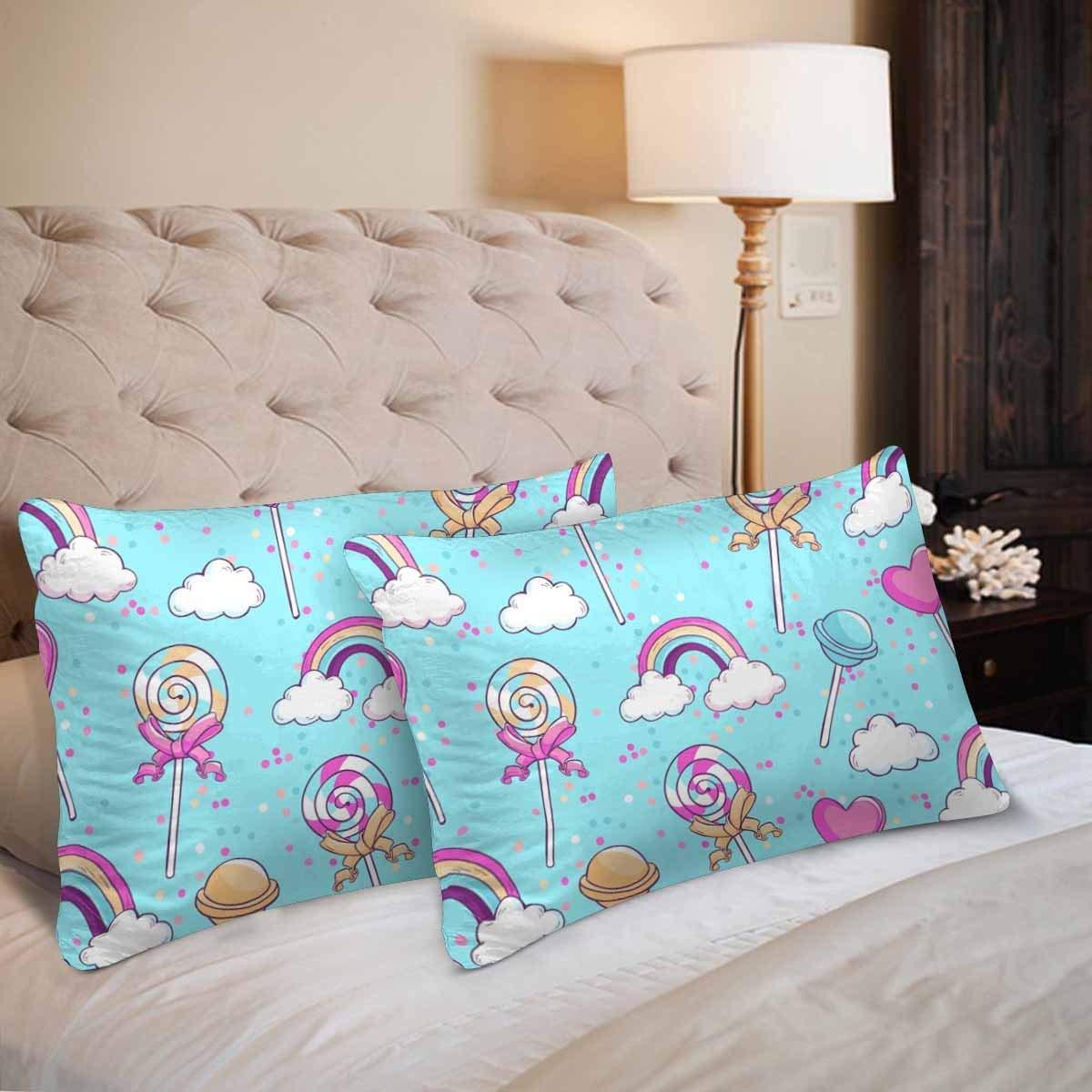 GCKG Lollipop Rainbow Cloud Sweet Candy Seamless Pillow Cases Pillowcase 20x30 inches Set of 2 - image 3 de 4