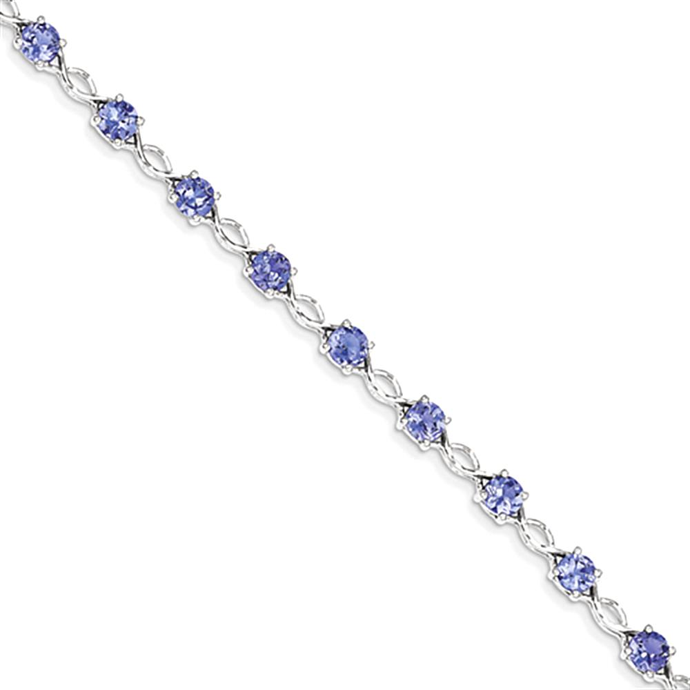 14K White Gold Tanzanite Bracelet by