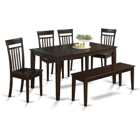 rectangular dining table set with wooden seat chairs