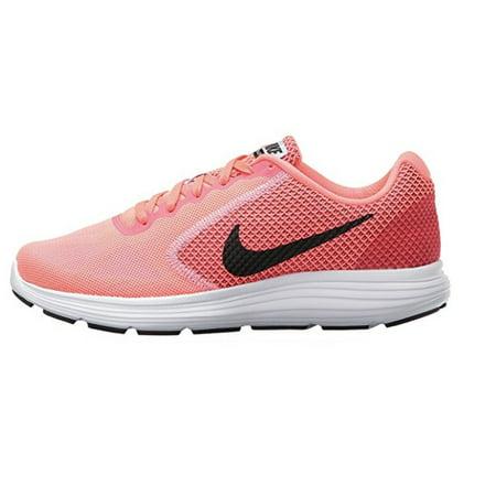 NIKE Women's Revolution 3 Running Shoe, Hot Punch/Black/White, 819303 602  (7.5 B(M) US) - Walmart.com