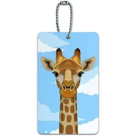 Safari Luggage Tag (Giraffe in Sky Safari Animal ID Tag Luggage Card for Suitcase or)