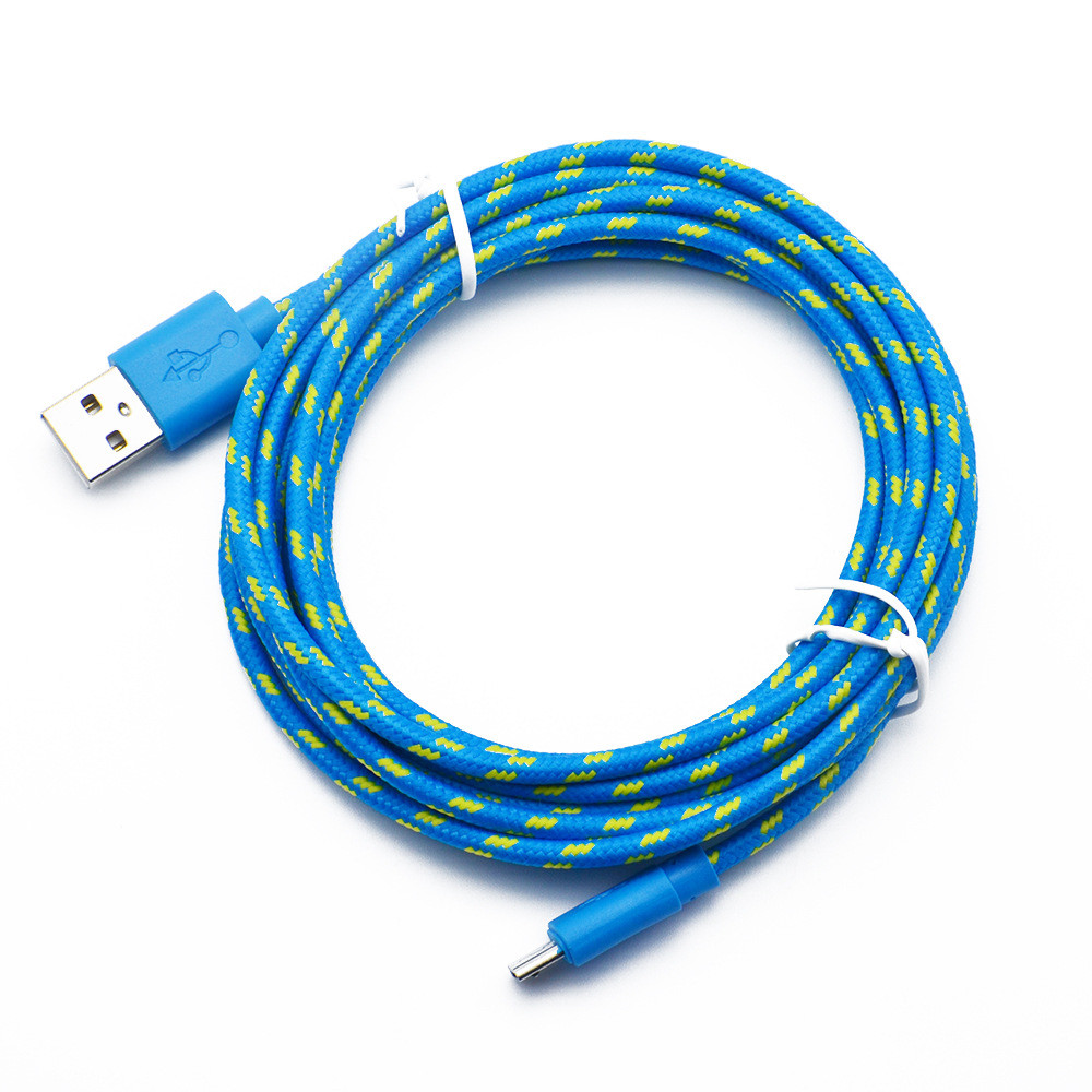 DZT1968 1M Micro USB Charger Sync Data Cable Cord for Cell Phone Lightgreen