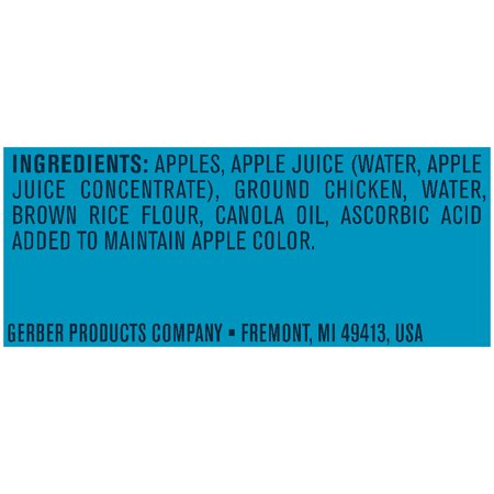 Gerber 2nd Foods Apples Chicken Baby Food 4 Oz Tubs 2 Count