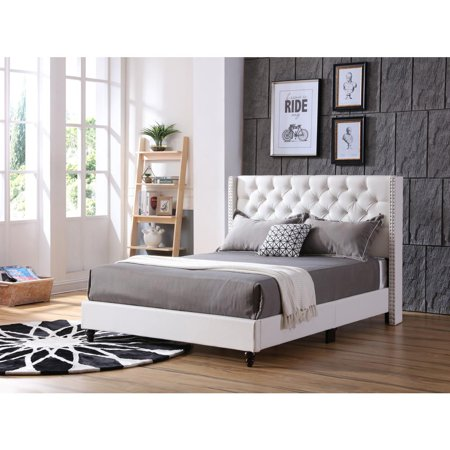 Glory Furniture Julie G1918 Qb Up Queen Upholstered Bed White