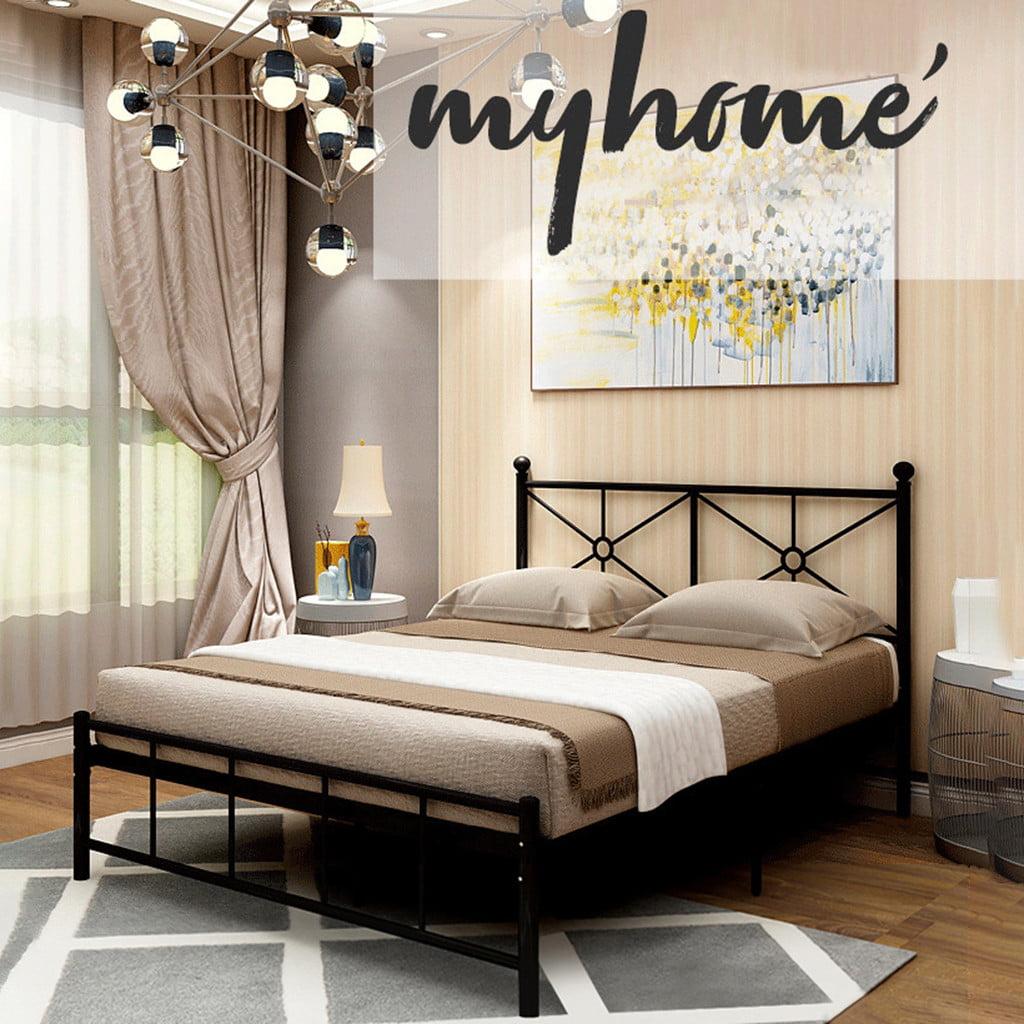 Alalaso Metal Bed Frame With Black Ball Headboard And Footboard The Rustic Style Walmart Com Walmart Com