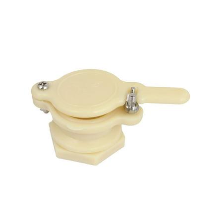 Extracteur de soupape de vanne miel en plastique beige outil d'embouteillage apiculture - image 1 de 3