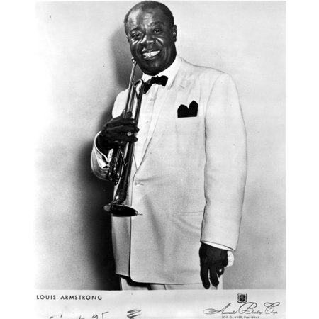 A Portrait Of Louis Armstrong Photo Print