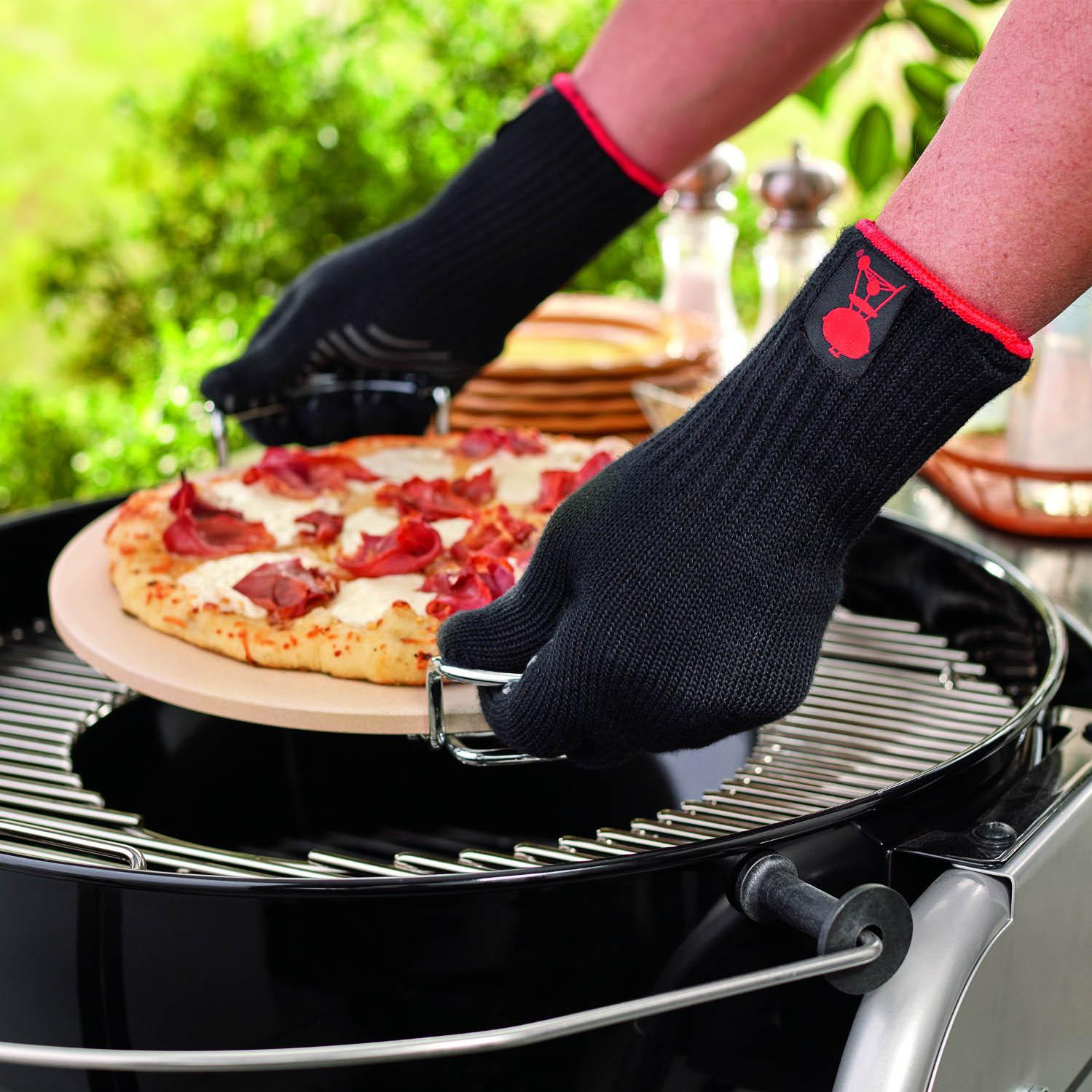 Weber 6535 Premium Large / Extra-Large Grill Gloves With Silicone Grip Pattern Palm