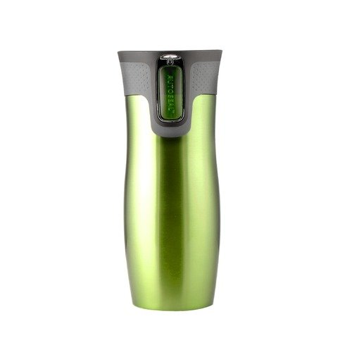Contigo AutoSeal 16 oz Stainless Steel Double Wall Vacuum Insulated Tumbler in Green