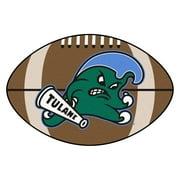"Tulane Football Rug 20.5""x32.5"""