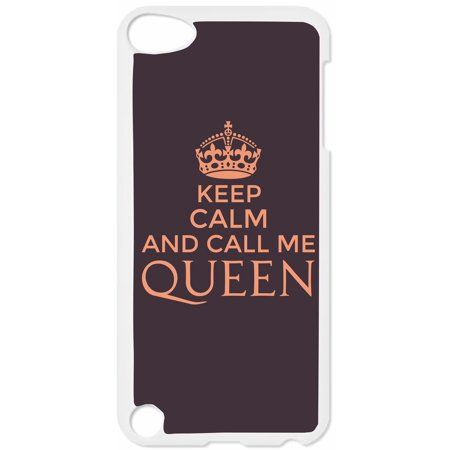 Keep Calm and Call Me Queen-Purple Hard White Plastic Case Compatible with the Apple iPod Touch 5th Generation - iTouch 5 Universal](find me the cheapest ipod touch)