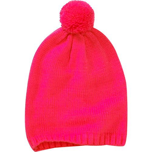 Women's Knit Slouchy Skull Cap with Pom