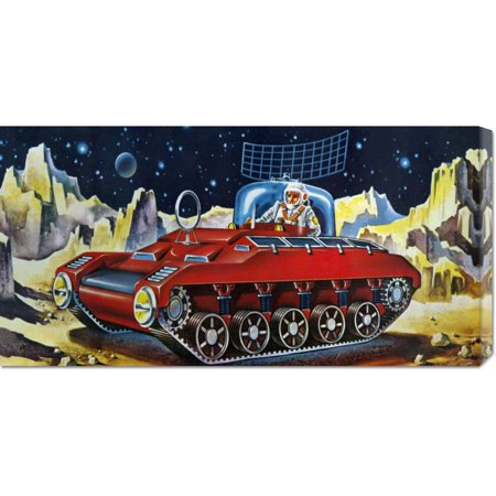 Global Gallery  Retrotrans Space Exploration Tank Stretched Canvas