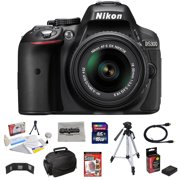 """Nikon D5300 24.2MP Digital SLR Camera with 18-55mm f/3.5-5.6G AF-S DX Lens + 16GB + 54"""" Tripod + Deluxe Case + Extra Battery + HDMI Cable + Memory Wallet + Cleaning Kit + Microfiber Cloth"""