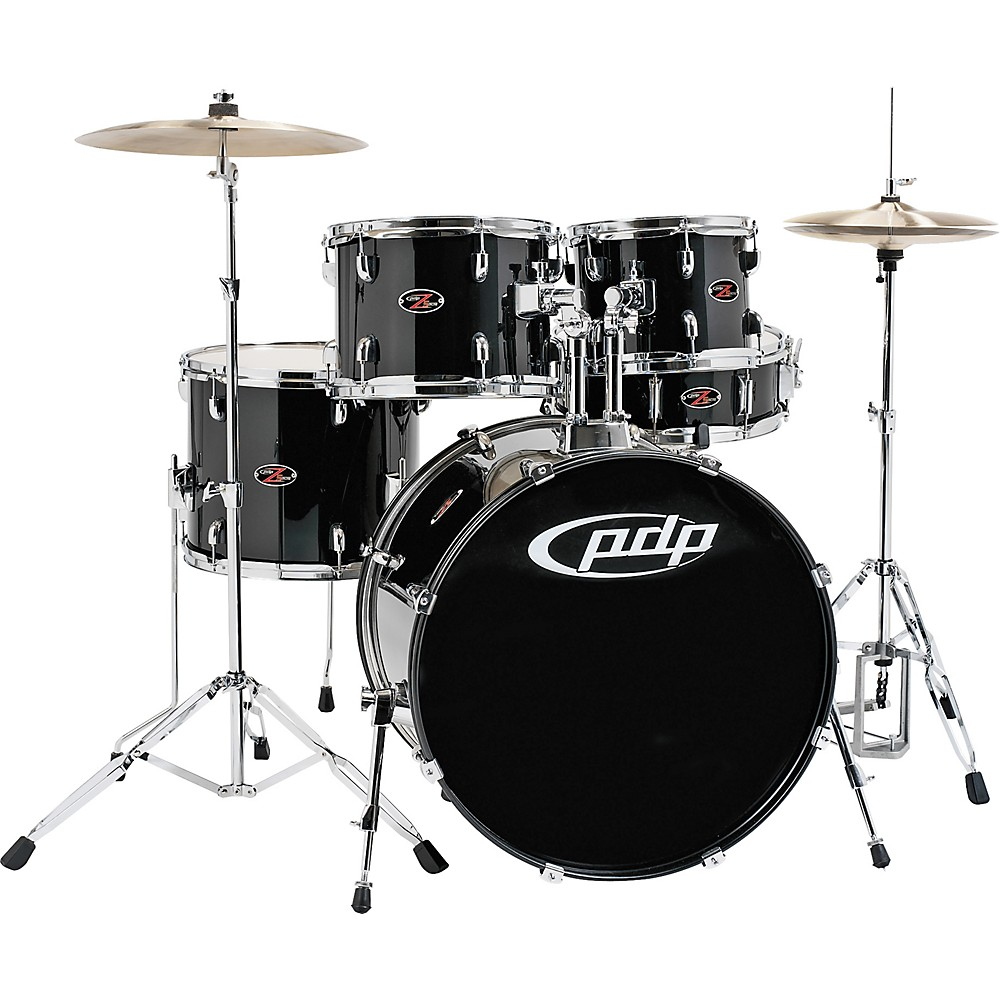 PDP by DW Z5 Complete Drum Set with Hardware and Cymbals Carbon Black by PDP
