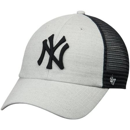 0c5f696a34c New York Yankees  47 Tamarac Clean Up Snapback Adjustable Hat - Gray Navy -  OSFA - Walmart.com