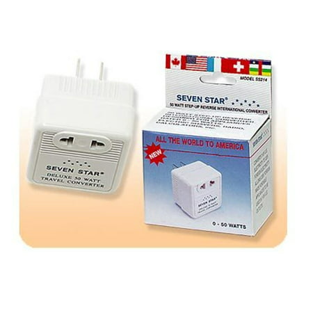 STEP UP CONVERTER 110V to 220V 50W TRANSFORMER VOLTAGE PLUG FOREIGN IN USA NEW