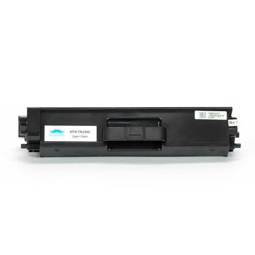 Brother TN336C Compatible Cyan Toner Cartridge High Yield for Brother HL-L8250CDN HL-L8350CDW HL-L8350CDWT/MFC-L8600CDW MFC-L8850CDW - Moustache® - 1/Pack - image 1 de 4