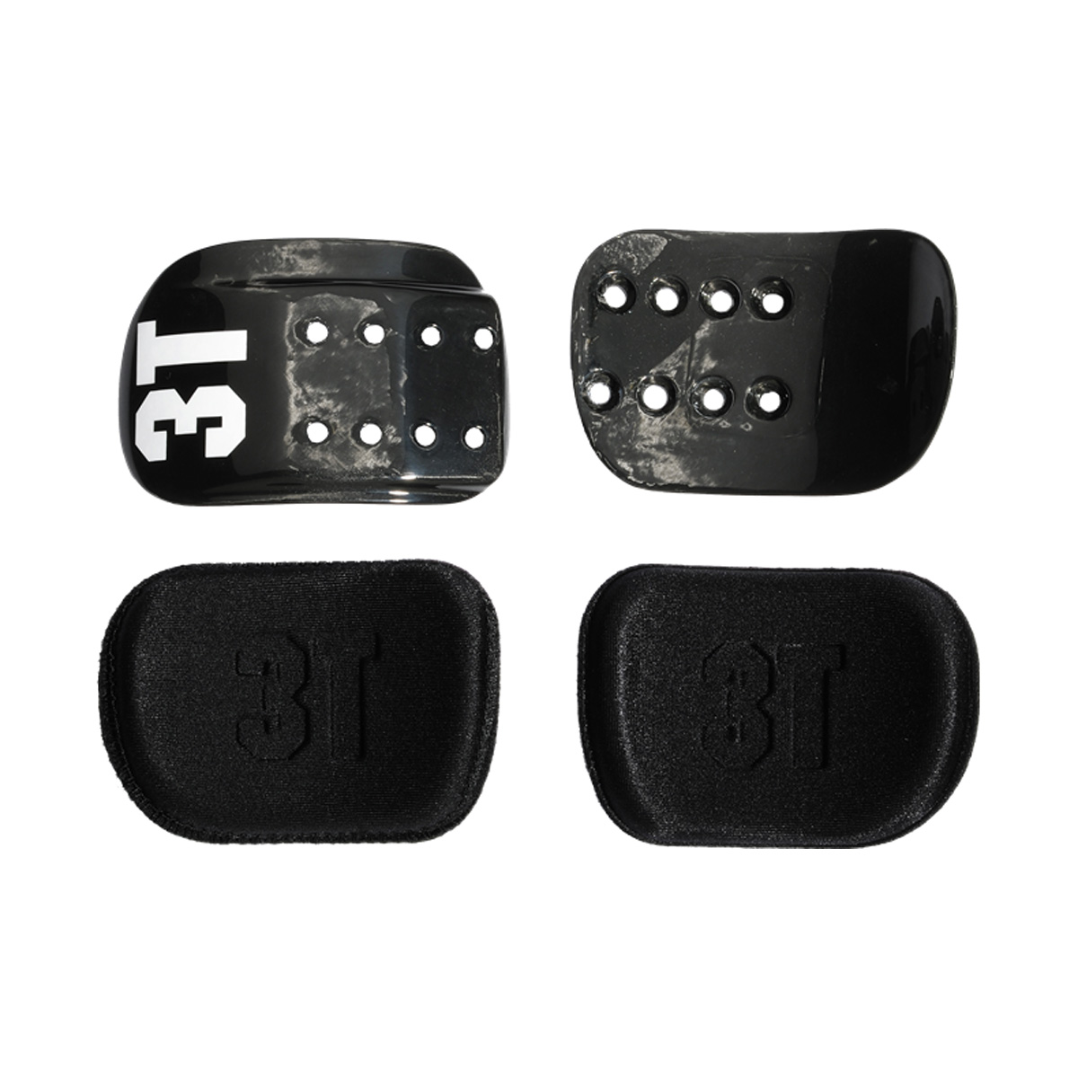 3T Brezza Bicycle Aerobar Compact Carbon Cradle/Replacement Pad Kit - 20324100116101120