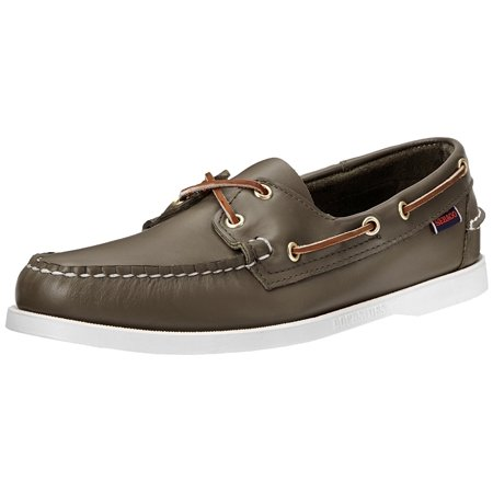 Docksides Saddle (Sebago Men's Moss Green Docksides Men 5 2E US )