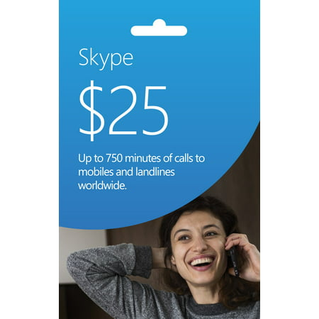 SKYPE $25 Prepaid eGift Card (Email Delivery)