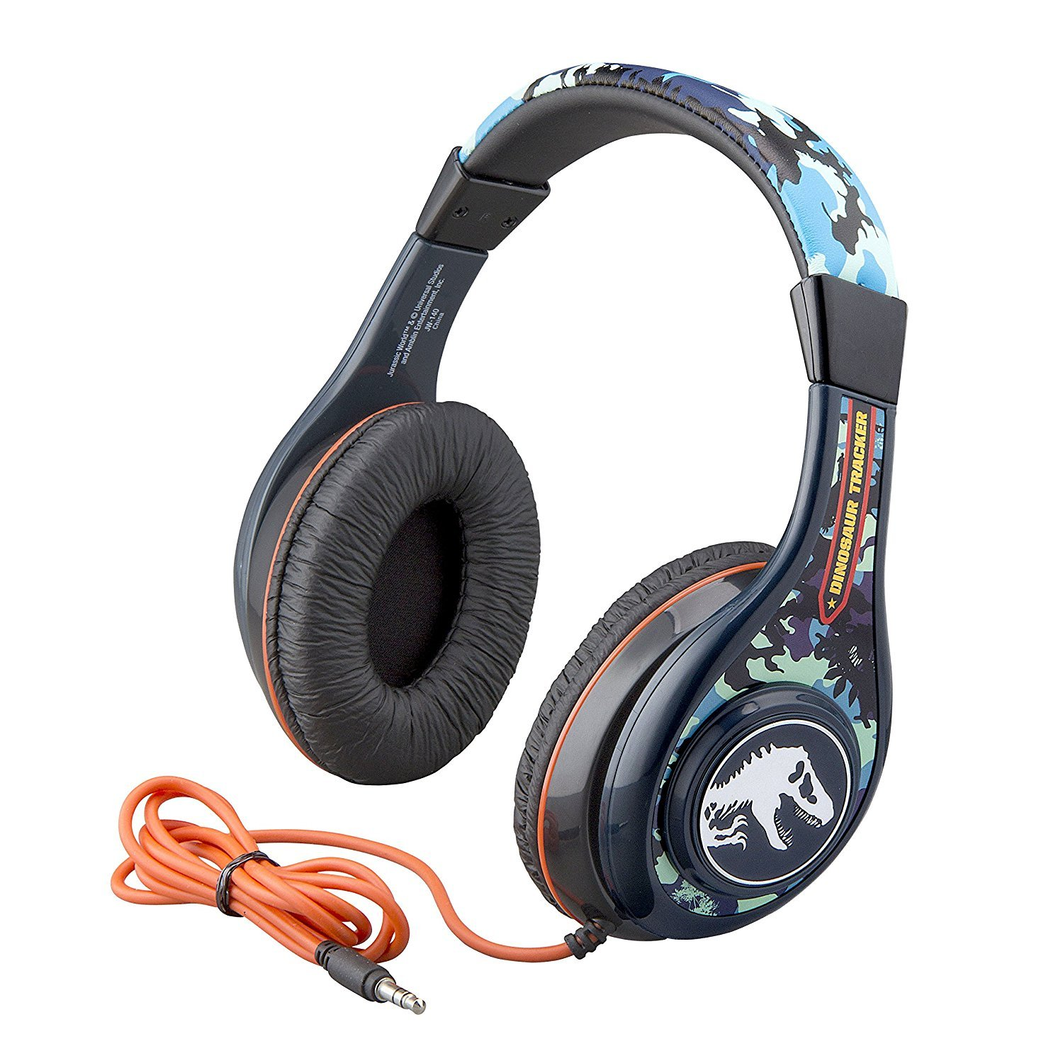 Jurassic World Fallen Kingdom Headphones for Kids with Built in Volume Limiting Feature for Kid Friendly Safe Listening