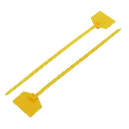 50pc 160mm Long Plastique Verrouillage 21x27mm Label Attache cable Jaune - image 1 de 4