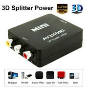 Mini AV To Video Converter HDMI Box 1080P AV2HDMI RCA AV HDMI Cvbs To HDMI Adapter for HD TV PS3 PS4 PC DVD Xbox Projector