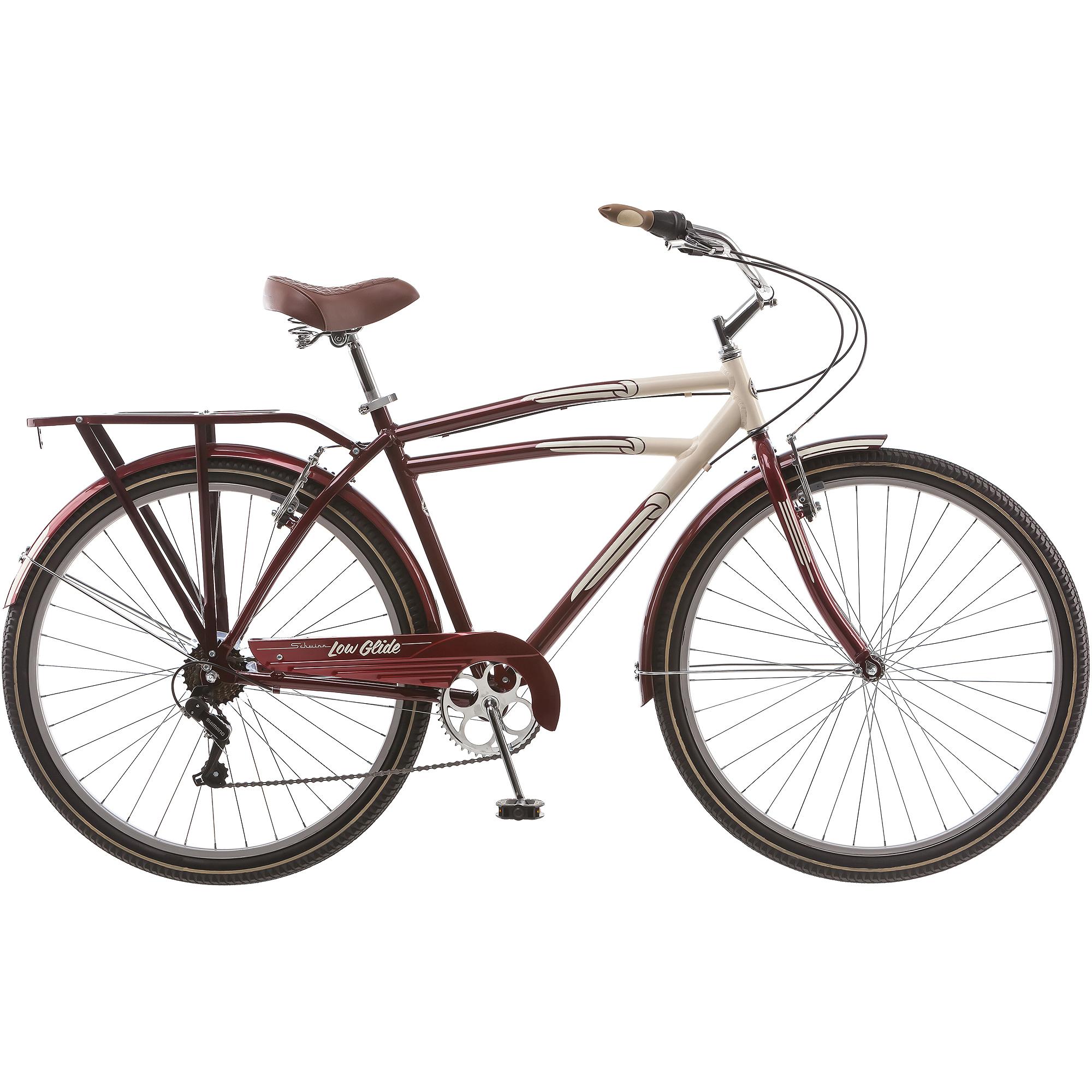 """29"""" Schwinn Low Glide Men's Cruiser Bike, Dark Red"""
