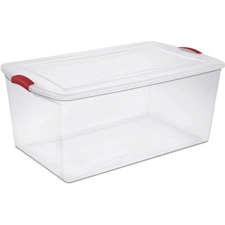 Sterilite 105-Quart Latch Box, Infra Red