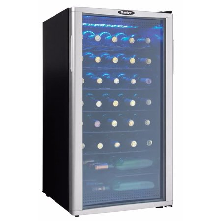 Danby DWC350 18 Inch Wide 35 Bottle Capacity Free Standing Wine Cooler with LED -