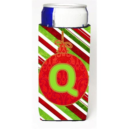 Christmas Ornament Holiday Monogram Initial Letter Q Michelob Ultra s For Slim Cans - S Monogram